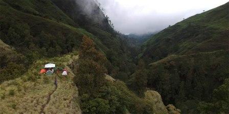 Foto Jalur pendakian Aik Berik Kecamatan batukliang Utara Lombok tengah